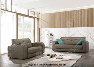 Modern Contemporary Olive Pu Upholstery Sofa (2+3) - Sass206 Living Room