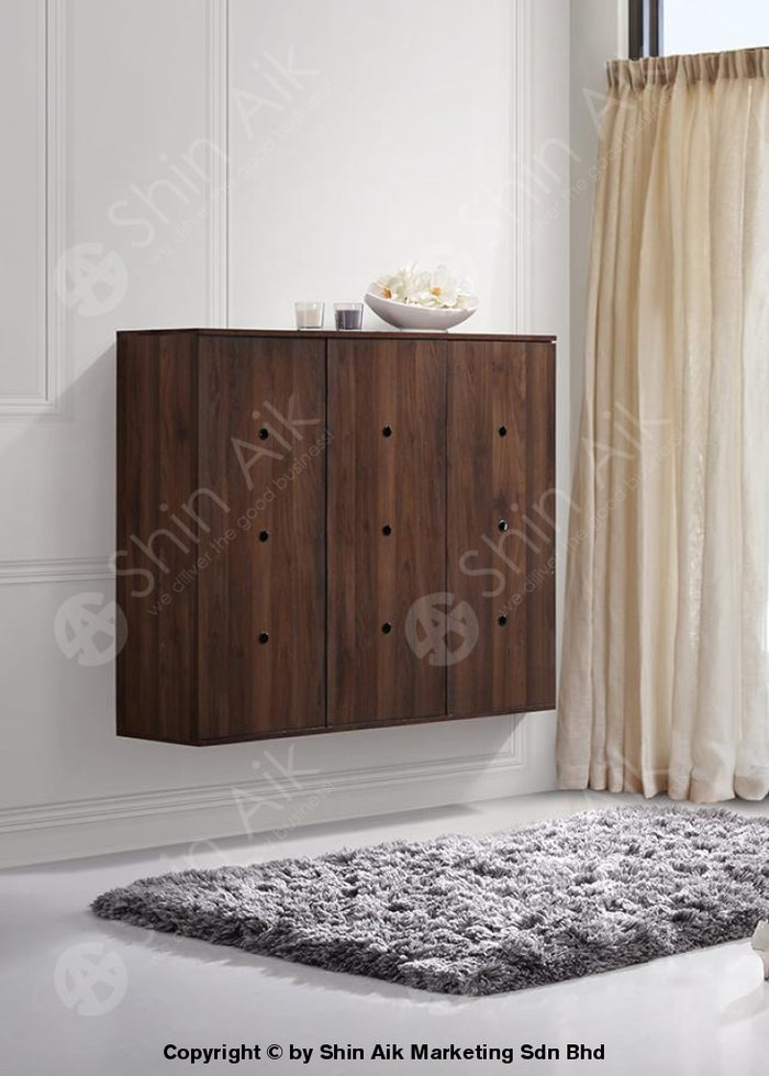 Modern Contemporary Storage Shoe Cabinet (Walnut) - SASC7005