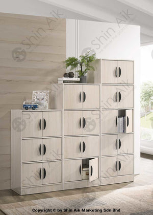 Multi-Layer Free Combination Modular Storage Cabinet (2 Doors) (Ash / Walnut) - Sabc2806 Study Room