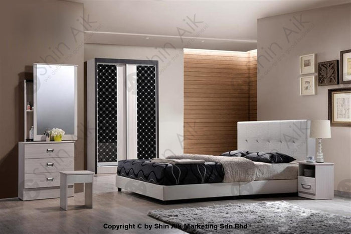 White Modern Contemporary Bedroom Set (4'x6'ft) - SA9936BRS