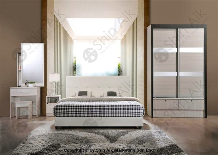 White Modern Contemporary Bedroom Set (4'x6'ft) - SA9937BRS