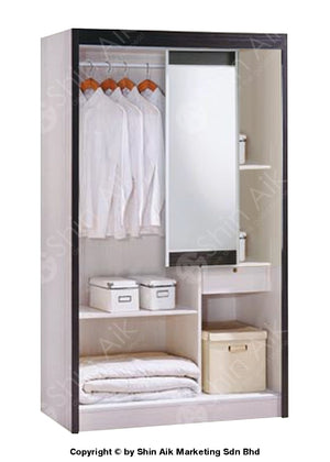 White Modern Sliding Door Wardrobe (4X6Ft) - Sa9032-87Wr Bedroom