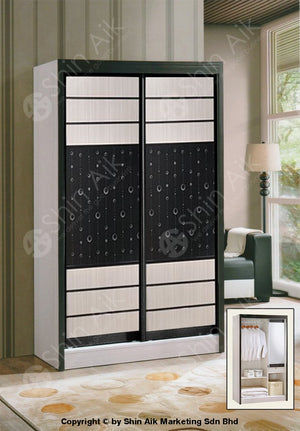 White Modern Sliding Door Wardrobe (4X6Ft) - Sa9032-88Wr Bedroom