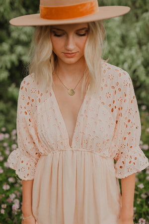 Nora Eyelet Dress (Blush)