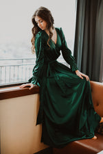 Margot Dress (Hunter Green)
