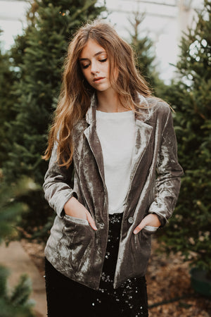 Holiday Cheer Velvet Blazer