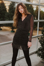 Night Vision Sheer Sparkle Dress