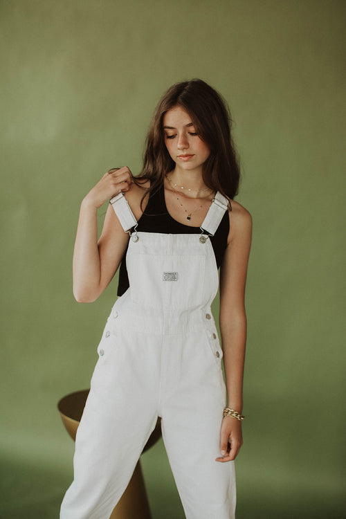 VINTAGE OVERALL WHITE LIE OVERALL