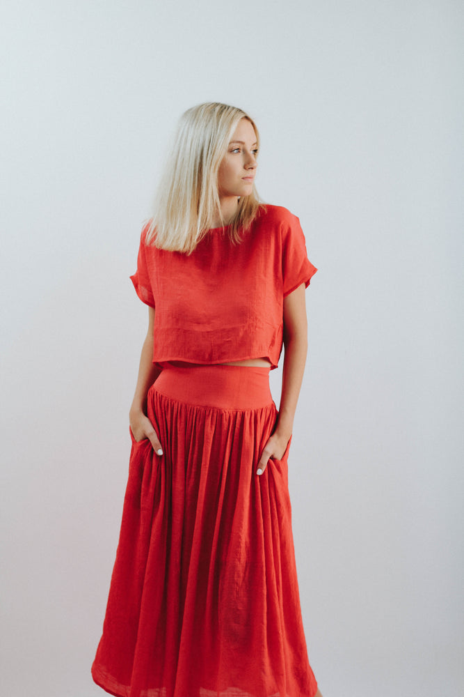 Poppy Red Two Piece
