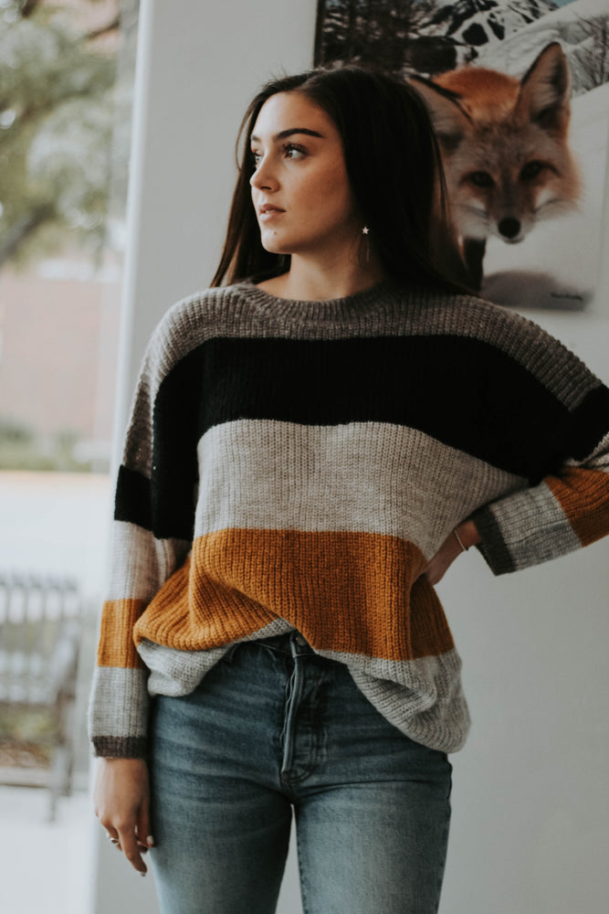 Frankie Color Block Sweater
