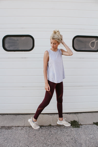 Let's Move Wine Mesh Legging