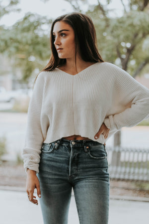 Libby Cropped Chenille Sweater