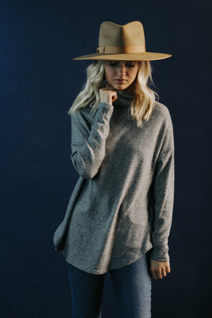 BF: Heather Mock Neck Sweater