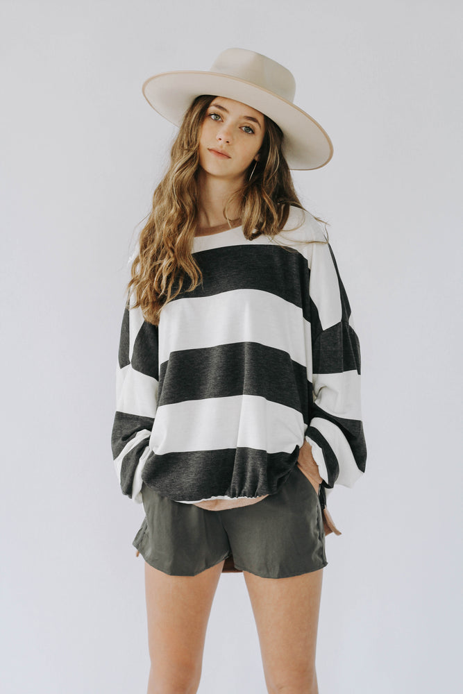 Slub Stripe Sweater