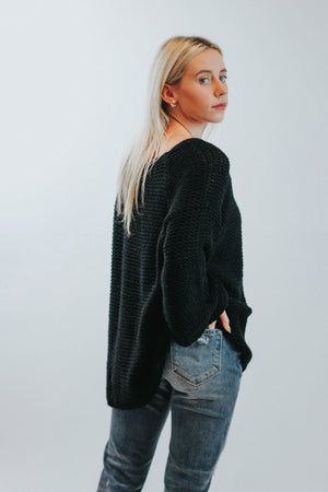 Fisherman Sweater (Black)