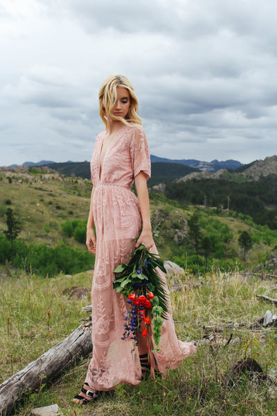 Chloe Maxi Dress (DUSTY ROSE)
