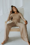 Gia Wide Legged Set (Mocha)-  PRE ORDER 10/30
