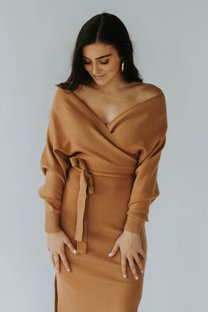 Day To Night Sweater Dress (Camel)