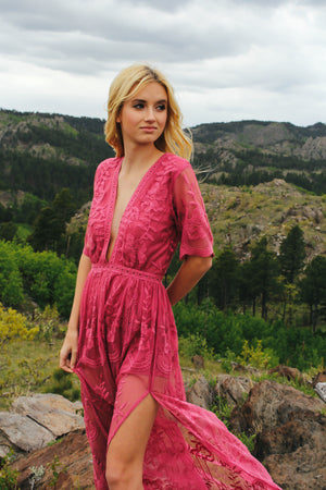 Chloe Maxi Dress (Fuschia)