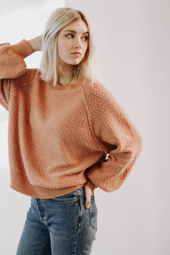 Lazy Gal Pullover (Rose)
