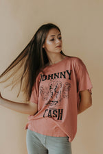 Day Dreamer: Johnny Cash Boots Boyfriend Tee