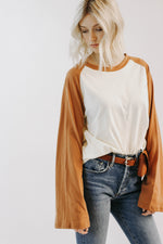 Betty Baseball Tee (Butterscotch)
