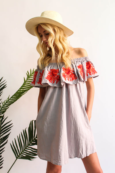 California Vineyard Off The Shoulder Dress