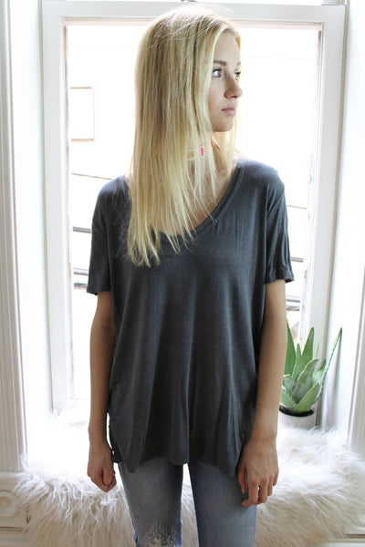 Washed Black Basic Tee