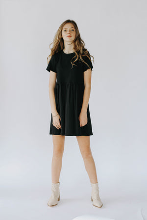 Griffin T-Shirt Dress (Black)