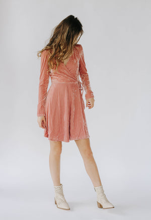 Collins Rose Velvet Dress