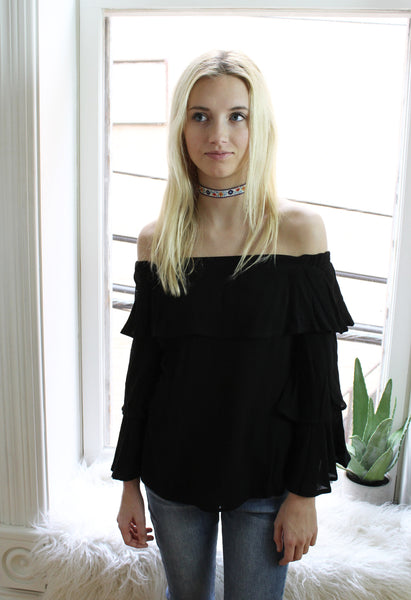 Entro Ruffle Off the Shoulder