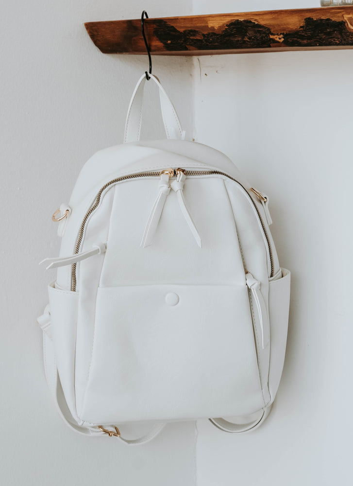 Ophelia Convertible Back Pack (White)