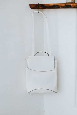 Kenny Convertible Back Pack (White)