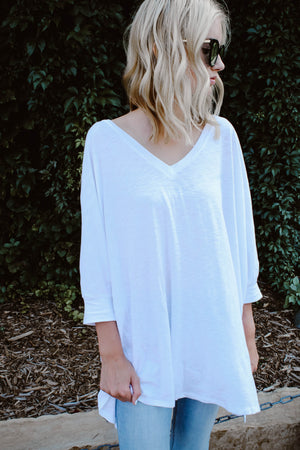 Just Chillin' White Oversized Tee
