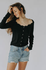 Wishlist Black Lace Top