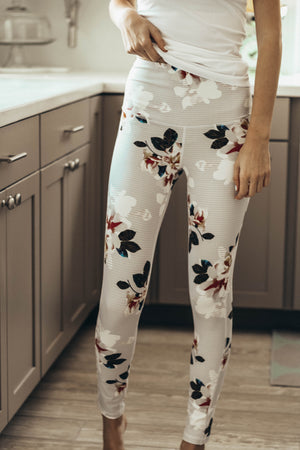 Flower Power Striped Leggings