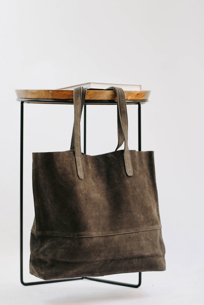 By Together: Grey Suede Purse