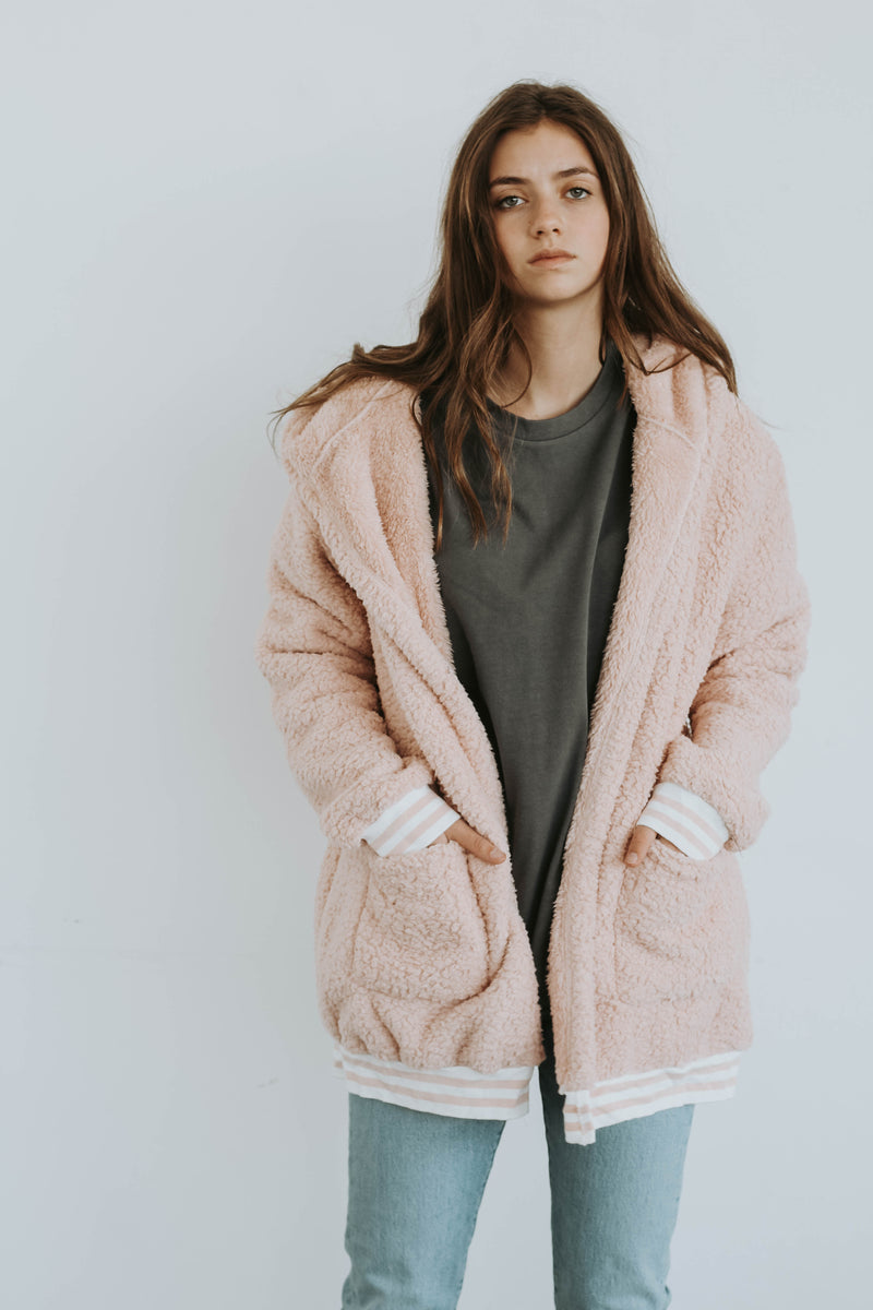 WAREHOUSE SALE VARSITY SHERPA IN PINK
