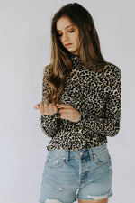 Leopard Mock Neck Top