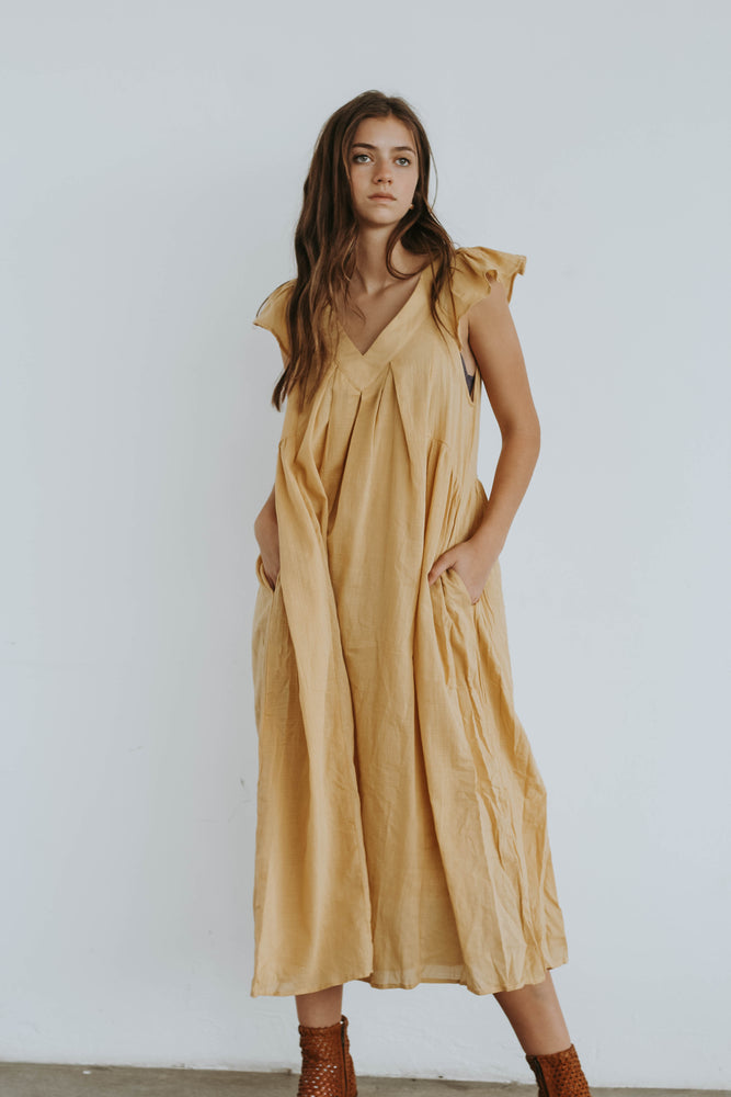 Warehouse Sale Long Listicle Dress in Yellow
