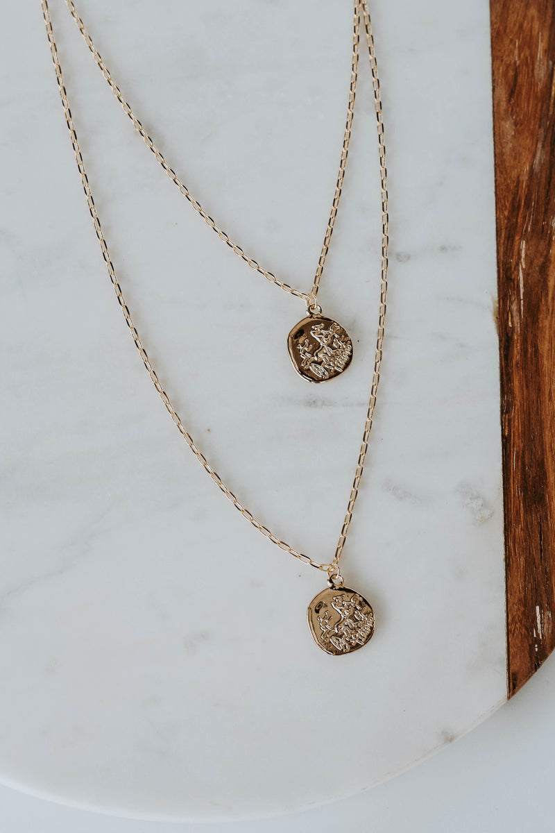 Dainty Layered Coin Necklace
