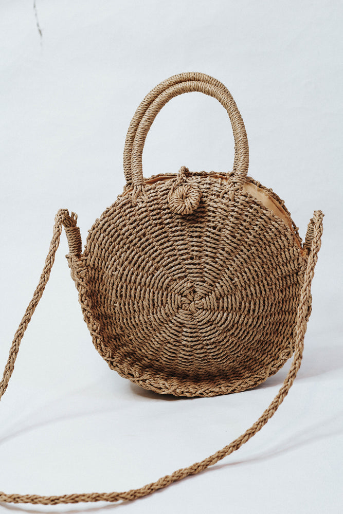 Anywhere You Go Straw Bag (Brown)