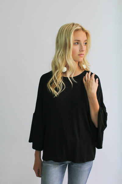 Cherish Flutter Sleeve (Black)