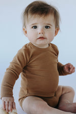 Quincy Mae: Ribbed Bodysuit (Copper)
