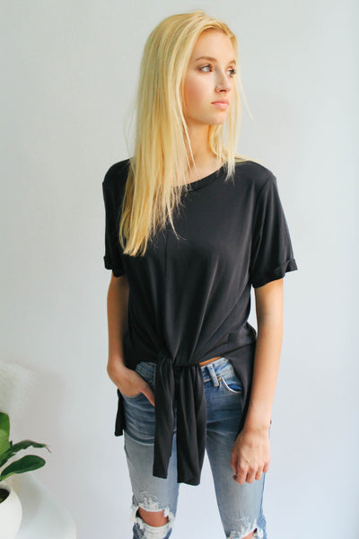 Jenna Black Knotted Top