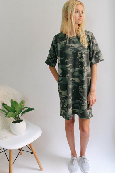 Camo TShirt Dress