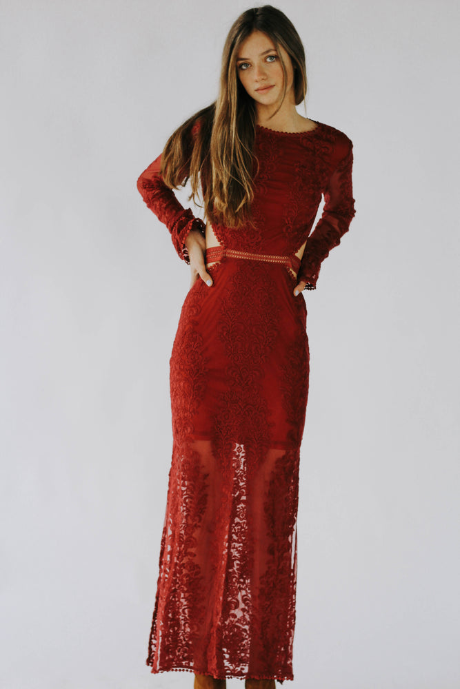 Roslyn Long Lace Dress