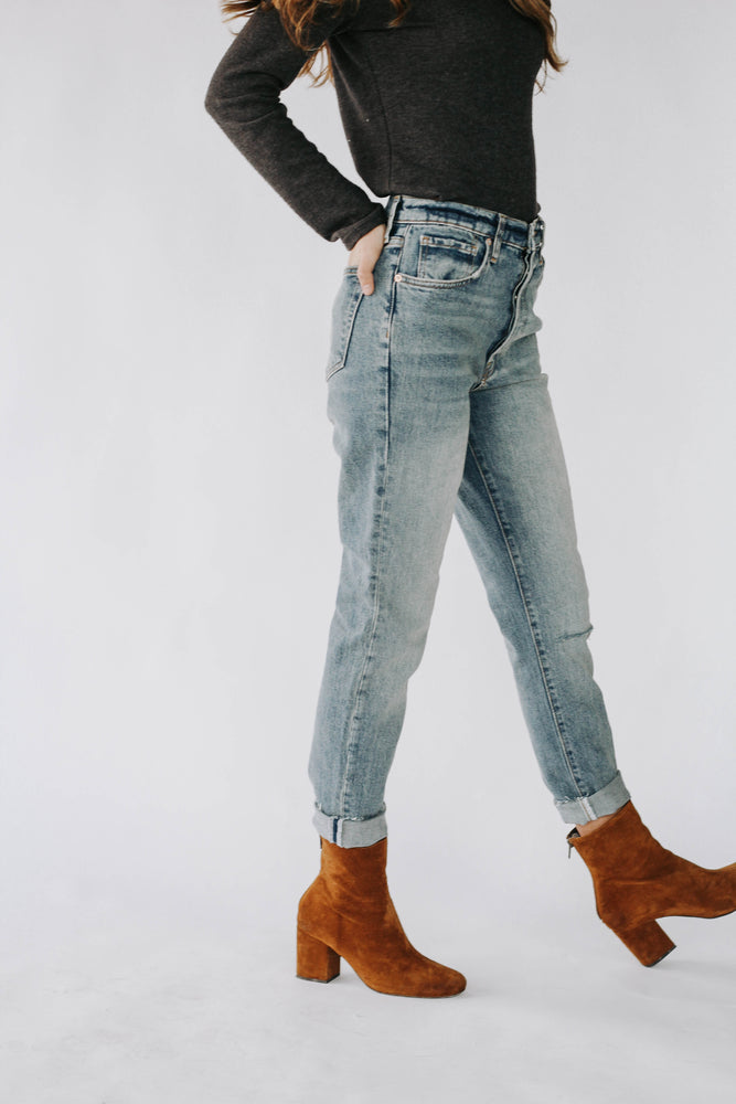 Free People: Stella Skinny Steel Blue Denim