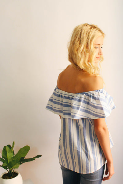 Sway Stripe Off The Shoulder Top
