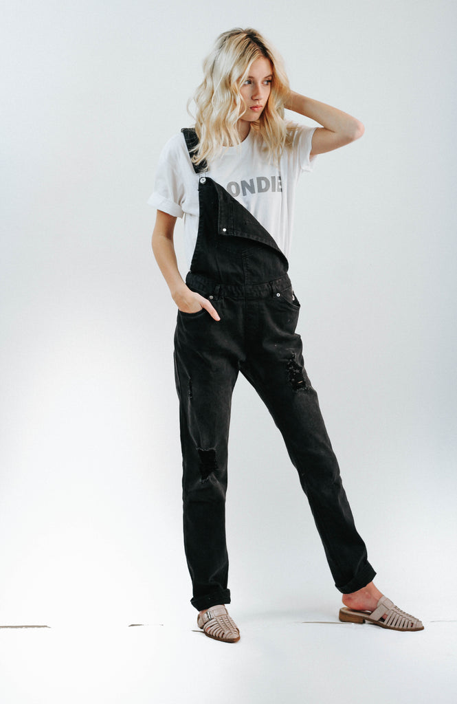 Pattie Washed Black Overalls